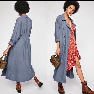 FREE PEOPLE Sweet Melody Trench Coat Duster
